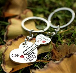 $enCountryForm.capitalKeyWord Australia - Wholesale- Free Shipping Key to My Heart Keychain Wedding Favors And Gifts Wedding Souvenirs Wedding Supplies Obsequios Boda