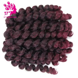 $enCountryForm.capitalKeyWord Australia - 22 Roots Synthetic Jumpy Wand Curl Twist Crochet Braids 8 Inch Jamaican Bounce Crochet Braiding Hair For Black Women