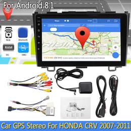 "Honda Crv Gps Dvd Australia - Android 8.1 Car Stereo 2 Din GPS 9"" bluetooth WIFI NO DVD Player Radio For HONDA CRV 2007-2011 Support Steering Wheel Control"