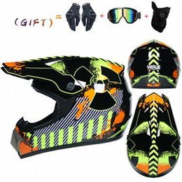 dirt bikes racing UK - Motorcycle Off Road Helmet ATV Dirt Bike Racing Motocross Helmets Downhill Full Face Helmet With Free 3 Gifts Motorcycle Helmet Decals kpoE#
