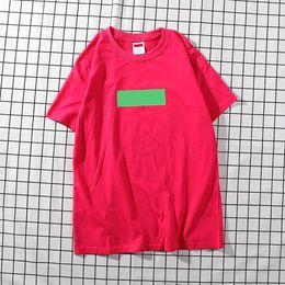 Men Fashion Logo T Shirts NZ - designer box logo tees beand mens t shirts luxury men t shirt luxury Tide brand clothing tshirts suprême womens fashion letter T-shirt tee