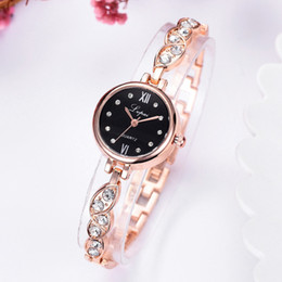 Small Round Clocks Australia - Mini Bracelet Watch Simple Casual Fashion Dress Ladies Watches Gift Round Alloy Small Exquisite Dial Clock Female Wristwatch #D
