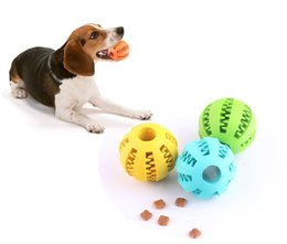 Silicone Toys Australia - Wholesale Pet Dog Toy Rubber Ball Toy diameter 5cm Funning ABS Silicone Pet Toys Ball Chew Tooth Cleaning Balls Home Garden