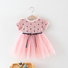 331f3155c7a Girls Heart Print Gauze Princess Dresses Summer 2019 Kids Boutique Clothing  1-6Y Little Girls Short Sleeves Gauze Dresses Sweet