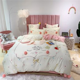 cotton baby bedding sets Canada - 4 7pcs Egyptian cotton Duvet Cover Sets King Size Bedding Sets Pillowcases embroidery rabbit bed cover jogo de cama Bed Linen T200706