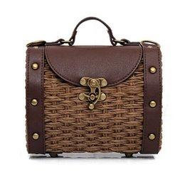 43a3a3cf1a97 Mini doctor bag online shopping - Casual Boston Bag Fashion Vintage  Handmade Straw Bag pu Leather