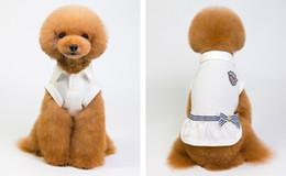 White Bowties Australia - Pet Supplies Teddy Little Dog Fashion Bowties Dress Cotton Soft White Navy Blue Dogs Outdor Wear Clothing Wholesale