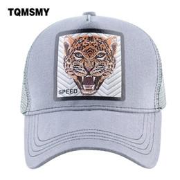 4f5fdbe633fe Wholesale Leopard Caps Australia - TQMSMY Men and Women Animal Leopard  Baseball Caps Cartoon Trucker Hat