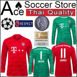 fdee583c773 new Bayern Munich Long sleeve Jersey 19 20 Home Goalkeeper green HUMMELS  LEWANDOWSKI JAMES TOLISSO MULLER 2019 2020 shirt T 1 NEUER 5 word
