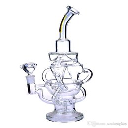 $enCountryForm.capitalKeyWord NZ - Recycler Glass Bong Dab Oil Rigs awesome triple cyclone inline arm heady bongs gear perc water pipes rig bowl quartz banger purple pipe