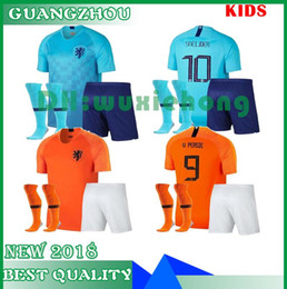kids kit 2018 2019 new Nederland soccer jersey 18 19 home orange  netherlands HOLLAND ROBBEN SNEIJDER V.Persie Dutch away football shirts 104aabfd0