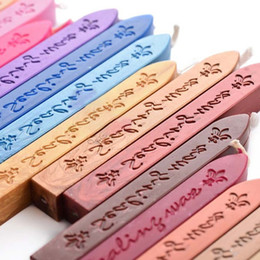wax seal stamps wedding UK - Sealing Strips Dedicated Stick Retro Paint Stamp Letter Vintage Seal Wax Handmade Hobby Wedding Invitation DIY Tools Colorful Candles