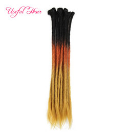 synthetic hair dreads NZ - ponytail synthetic hair Dreads Handmade Dreadlocks Extensions Reggae dread hair Crochet Hip-Hop Synthetic Dreads Crochet Braiding Hair
