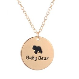 $enCountryForm.capitalKeyWord NZ - hot sale one baby bear necklace family for mom mothers gift jewelry women cute style brothers sisters necklace gift for kids