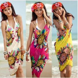 $enCountryForm.capitalKeyWord Australia - Women Beach Dress Sexy Sling Beach Wear Dress Sarong Bikini Cover-ups Wrap Pareo Skirts Towel Open-Back Swimwear