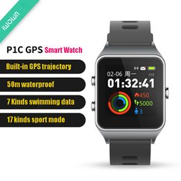 water resistant smart watches Australia - Newest P1C GPS Multisport Smart Band Heart Rate Fitness Wristband IP67 Water Resistant Color Display Bluetooth TPU Sports Watch