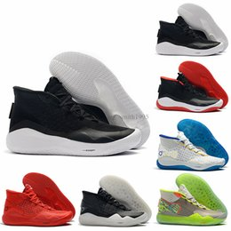 Kd Shoes Christmas Australia - Discount KD 12 12s Men Basketball Shoes KD12 90s Kid The Day One Warriors Home Oreo Mens Trainer Sports Sneakers 7-12