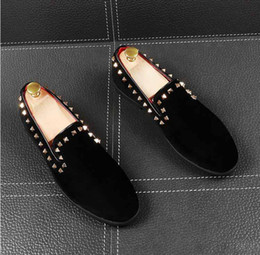 camp wedding dress Australia - Flats For Shoes Dress Shoes Classic Office Shoe Mens Male Wedding Men Designer Rivet Dress Asbtt