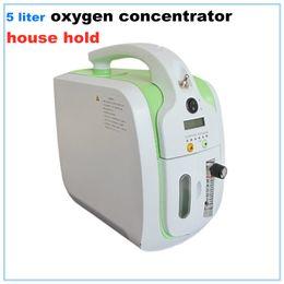 Мини-бытовой кислородный концентратор генератор 5л кислородный бар очиститель воздуха для дома здравоохранения