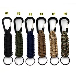 Paracord Key Australia - 6 Colors Outdoor Gear Carabiner Survival Mountaineering Buckle Key Ring Kits Escape Paracord for Hiking Camping Travel Key Chain MMA2034