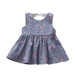 $enCountryForm.capitalKeyWord UK - vintage dress Newborn Baby Girls Patchwork Dress Plaid Beach Floral Sundress Clothes Outfits aniversario
