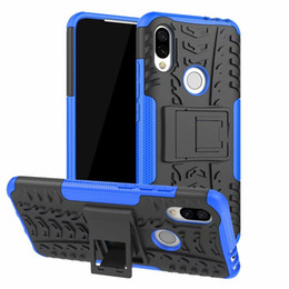 Wholesale For Xiaomi Mi9 Mi SE Redmi Redmi Y3 Redmi Note Hard Case Hybrid Armor Soft Protection TPU Gel Skin Stand Silicon Phone Cover