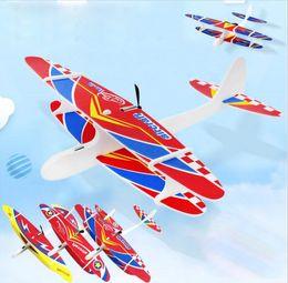 $enCountryForm.capitalKeyWord Australia - Kids Electric Aircraft Toy Airplane Model Hand Throw Plane Foam Launch Flying Glider Plane Outdoor Game Interesting Toys