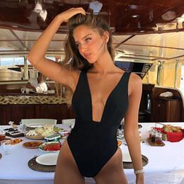 82121fbebe5 Black halter Bodysuit online shopping - 2019 Sexy Swimsuit One Piece  Bodysuit Push Up Monokini Halter