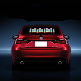 $enCountryForm.capitalKeyWord Australia - Car Blue LED Music Rhythm Flash Light Sound Activated Sensor Equalizer Rear Windshield Sticker Styling Neon Lamp Kit