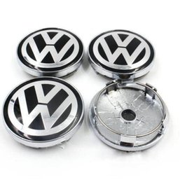 Volkswagen Polo Logo Australia - 50 pcs 60mm Black Alloy Wheel Center Caps Logo Emblem for VW Golf Passat Polo