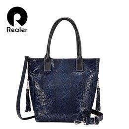 Leather Luxury High Quality Bags Australia - Realer women shoulder bag high quality genuine leather fashion handbag for ladies luxury cross-body messenger bag design female