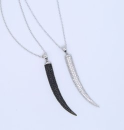 Horn color necklace online shopping - Vintage Crescent Moon black Gold Color Chain silver Necklaces For Women Ethnic Ox Horn Two Layers Charm Necklaces Jewelry