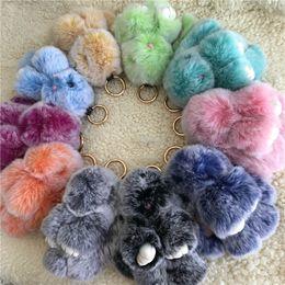 "$enCountryForm.capitalKeyWord NZ - Magicfur - 1pcs 15cm 6"" Frost Real Rex Rabbit Fur Cute Bunny Toy Keychain Bag Bug Charm Keyring Pendan AccessoriesSH190724"