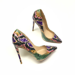 $enCountryForm.capitalKeyWord Australia - New Purple Lacquer Snake Fine-heeled Spiked High-heeled Shoes Fashionable Sexy Shallow-mouthed Suit Women's Shoes Customized 33-45