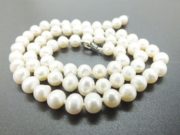 """$enCountryForm.capitalKeyWord Australia - High quality 6MM classic natural white freshwater pearl beaded necklace. Send a friend, mom, the best gift 18"""""""