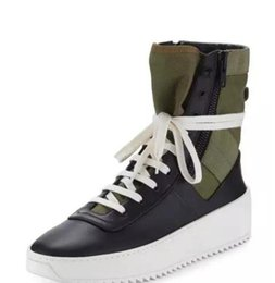 $enCountryForm.capitalKeyWord Australia - 2019New Arrived fear of god shoes Jungle High-Top Leather Sneaker with Canvas Insets fog Boots platform Men fashion leather shoes size 38-45