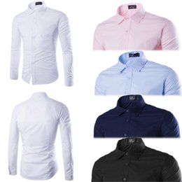 Wholesale slim fit work shirts for sale - Group buy Fashion Men s Long Sleeve Slim Fit V Neck Shirt Business Work Shirts Luxury Blouses Formal Casual Solid