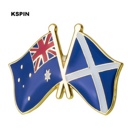 Home & Garden Australia Indonesia Friendship Flag Label Pin Metal Badge Badges Icon Bag Decoration Buttons Brooch For Clothes 1pc Apparel Sewing & Fabric