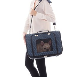 car totes UK - Plaid Outdoor Travel Dog Kennels Cages Comfort Pet Outdoor Carrier Car Seat Bag S M L Cat Small Medium Puppy Animal Tote Handbag