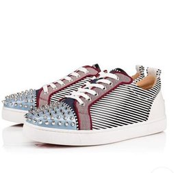 $enCountryForm.capitalKeyWord Australia - Famous Junior Spikes Orlato Sneakers Flat Printed Leather Low Top Red Bottom Shoes For Women,Men Cheap Leisure Casual Shoes With Box