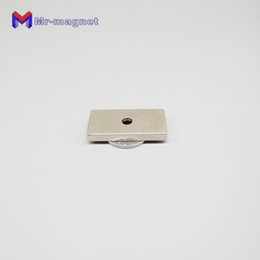 countersunk magnet UK - 2019 imanes countersunk imanes 6pcs lot F 40x20x5-5 mm N35 Strong Square NdFeB Magnet 40*20*5-5mm Neodymium Magnets 40mmx 20mmx 5mm hole 5
