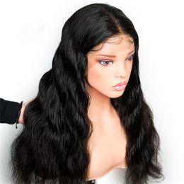 Опт 8А 150% Плотность Полный Шнурок Человеческих Волос Парики Индийские Волосы GaGa С Волосами Естественной Волны Бесплатная Доставка