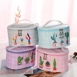$enCountryForm.capitalKeyWord Australia - Cosmetic Bags Cactus Makeup Bag Women Travel Organizer Professional Storage Brush Necessaries Make Up Case Beauty Toiletry Bag