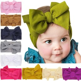 Kid crochet hair online shopping - DHL BABY Lovely Bowknot Elastic Head Bands For kids Girls Headband For Children Tuban Baby Baby Accessories Floral Hair haarband