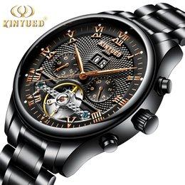 Kinyued homens Tourbillon relógios mecânicos automáticos dos homens à prova d 'água esqueleto automático relógio homens Relojes Hombre 2019 Dropship J190705 venda por atacado