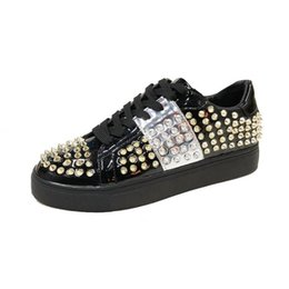 Joker lace online shopping - women Ladies Lace up Classic casual shoes female new joker with rivet flat sandals
