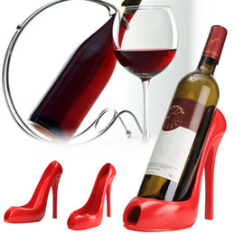 Bar Table Accessories Australia - High Heel Shoe Wine Bottle Holder Hanger Red Wine Rack Support Bracket Bar Accessories Table Decoration Modern Style