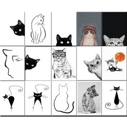 Modular hoMes online shopping - Nordic Style Pictures Canvas Home Decoration Pet Cat Funny Paintings Wall Art HD Prints Creative Modular For Living Room Poster