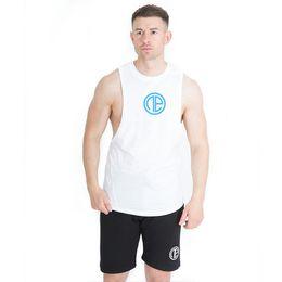 $enCountryForm.capitalKeyWord Australia - Tank Vest Top Herren Mens T-shirt White Blue Logo New Fitness Gym Workout Sport Running MMA Quick Dry Breathable Sleeveless Sportswear