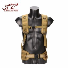 tactical vests military 2019 - Military Tactical Adjustable Waist Padded Strap with H-shaped Suspender Shoulder Belt Cummerbund Vest Airsoft Hunting Ac